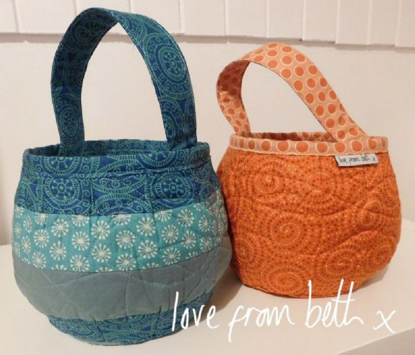 Love From Beth - Pumpkin Bag Sewing Pattern